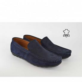 Kožne muške cipele - Mokasine 7049TT teget