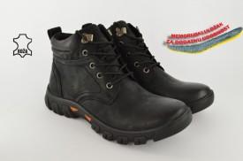 Kožne muške duboke cipele 7465 crne