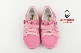 Kožne dečije cipele 143-R sa anatomskim uloškom roze