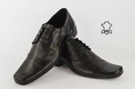 Kožne elegantne muške cipele 594 crne