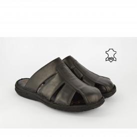Kožne muške papuče 7503CR crne