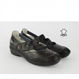 Kožne ženske cipele SD858D crne