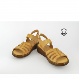 Kožne ženske sandale AS026BE bež