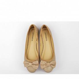 Ženske baletanke L020060ZT zlatne