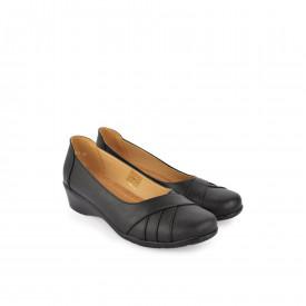 Ženske cipele na platformu 37383-1CR crne