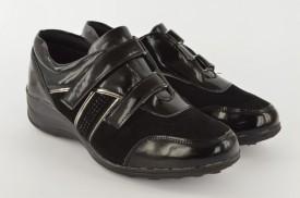 Ženske cipele na platformu L16651 crne