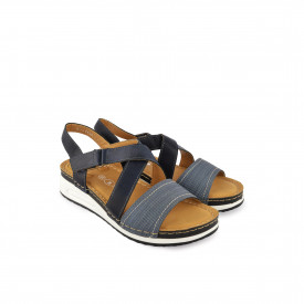 Ženske sandale na platformu WSL14014TT teget