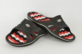 Gumene muške papuče E144.M crne