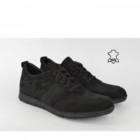 Kožne muške cipele 2002-1CR crne