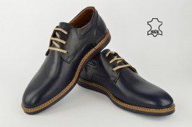 Kožne muške cipele 466 teget