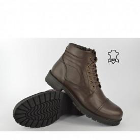 Kožne muške duboke cipele 321BR braon