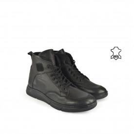 Kožne muške duboke cipele 632025CR crne