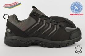 Kožne NEPROMOČIVE muške cipele 34178D crne