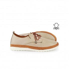 Kožne ženske cipele 504BE bež
