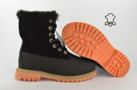 Kožne ženske duboke cipele - Kanadjanke 66932D-2 crne