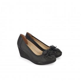 Ženske cipele na ortoped petu 5242-846CR crne