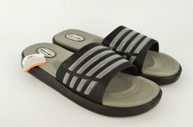 Gumene muške papuče E155-S sive