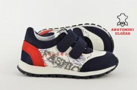 Kožne dečije cipele 143-P sa anatomskim uloškom plave