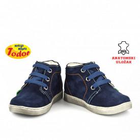 Kožne dečije cipele 568 sa anatomskim uloškom teget