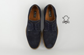 Kožne muške cipele 608-P teget