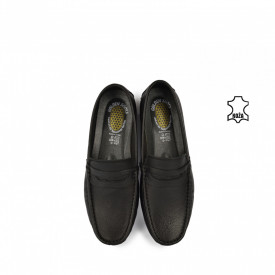 Kožne muške cipele - Mokasine 7053CR crne