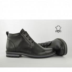 Kožne muške duboke cipele 656-1 crne