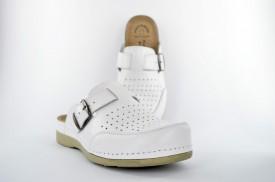 Kožne muške papuče - Klompe U-25 bele