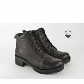 Kožne ženske duboke cipele 1014CR crne