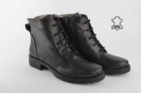Kožne ženske duboke cipele 556C crne