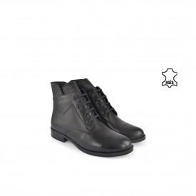 Kožne ženske duboke cipele 634020-1CR crne