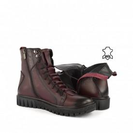 Kožne ženske duboke cipele S8300BD bordo