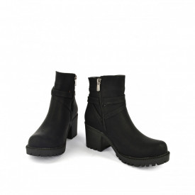 Kratke čizme na štiklu 4350-4081CR crne