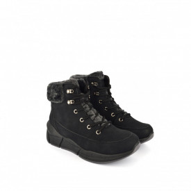 Postavljene ženske duboke cipele na platformu LH051401CR crne
