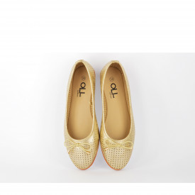 Ženske baletanke L53192ZT zlatne