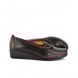 Ženske cipele na platformu 015BD bordo