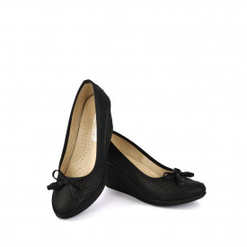 Ženske cipele na platformu 5242-845CR crne