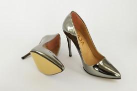 Ženske cipele na štiklu - Salonke 5596 srebrne