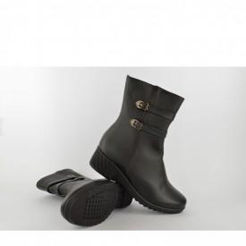 Ženske čizme na platformu LH77406 crne