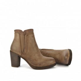 Ženske poluduboke čizme na štiklu LH085618-1BR braon