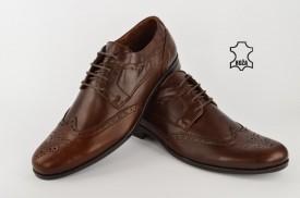 Kožne elegantne muške cipele 458 braon