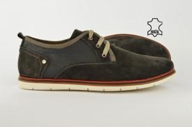 Kožne muške cipele 607-S sive