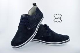 Kožne muške cipele 618 plave