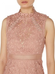 Lace Panel Shift Dress
