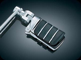 Bukócsőre szerelhető krómozott lábtartó kihajtható saroktámasszal kép