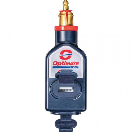 OptiMATE O-115 kettős USB töltő, egyenes csatlakozó dugóval (DIN Ø12mm) kép