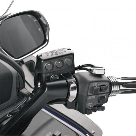 Fekete kiegészítő kapcsoló sor, fékolajtartályra, LED-es kép