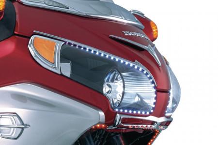 Index és helyzetjelző LED lámpa krómozott kerettel kép