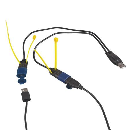 OptiMATE O-110 USB Y-elosztó kábel, időjárásálló csatlakozórendszerrel kép