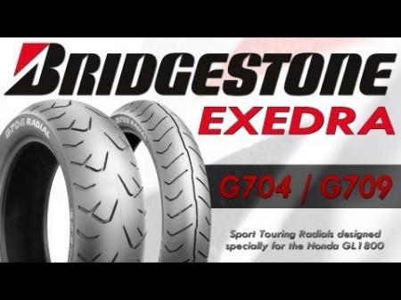 Bridgestone Exedra G709 + G704 gumi pár GL1800-hoz kép