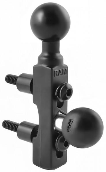 """Tartó szerkezet KÉT golyóval fék- vagy kuplungolaj tartályhoz (1"""") kép"""